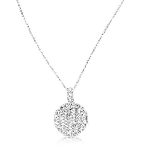 Diamond Bouquet Circle Pendant