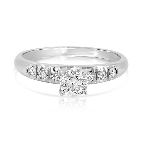Classic Smooth Engagement Diamond Ring