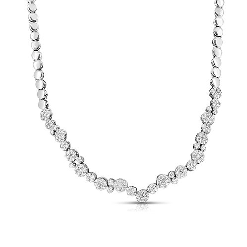 Diamond Loops Bridal Necklace