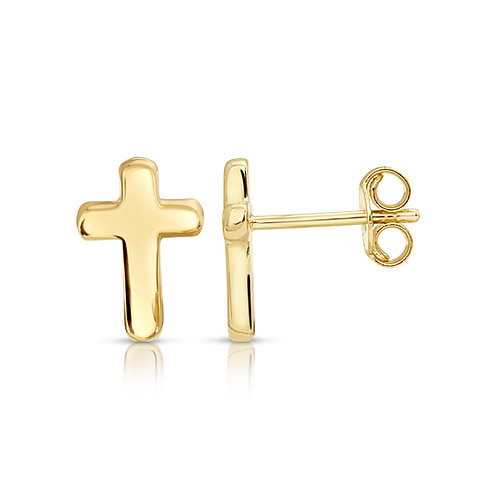 Simple Thick Cross Earrings