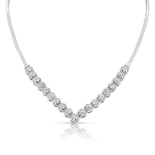 Delicate V Shape Diamond Necklace