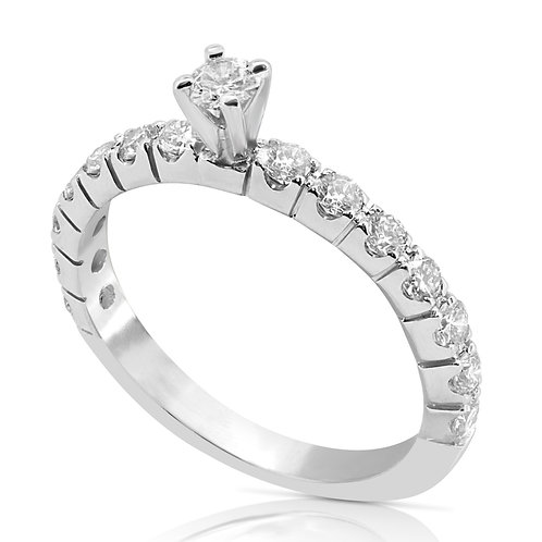 Thin Elegant Diamond Inlaid Ring
