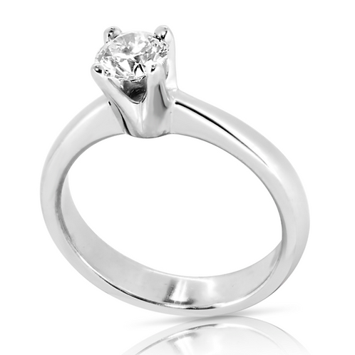 Classy Simple Diamond Engagement Ring