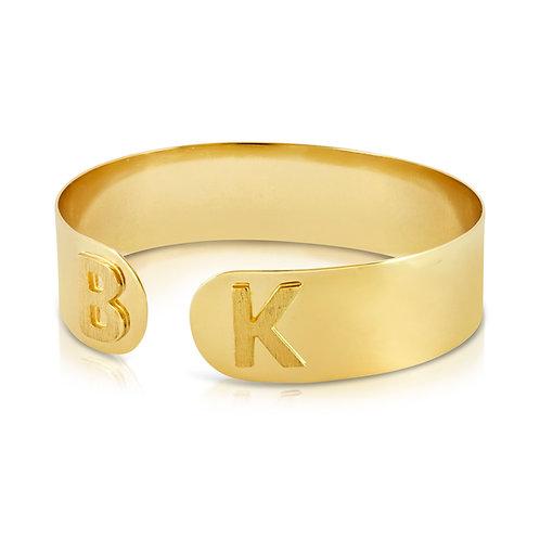 Custom Letters 18K Gold Bracelet