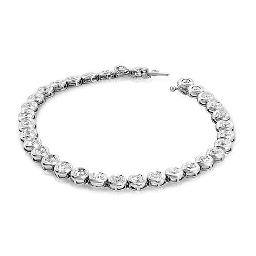 Loops Tennis Diamond Bracelet