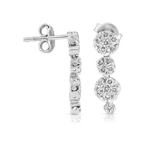 Diamond Loops Bridal Earrings