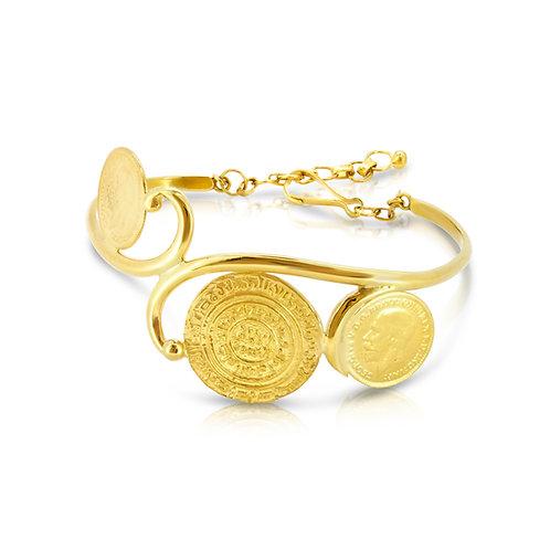 21K Oriental Traditional Coins Bracelet