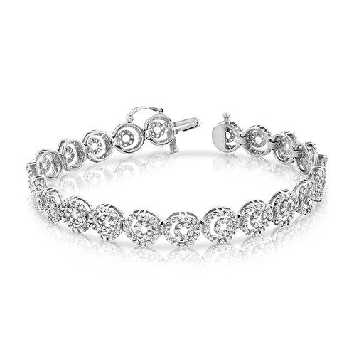 Classy Loops Tennis Diamond Bracelet