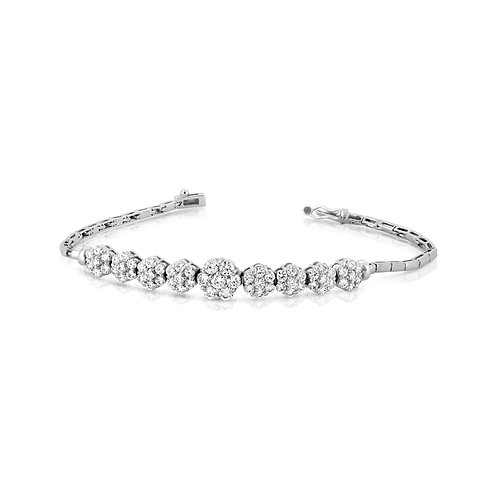Soft Flowers Diamond Bridal Bracelet
