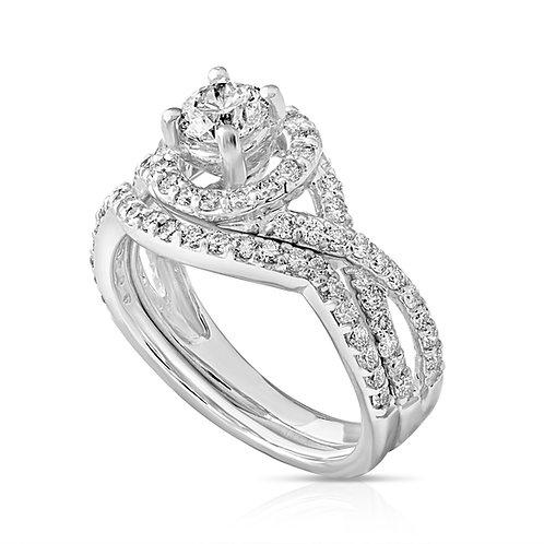 Composed Diamond Inlaid Couple