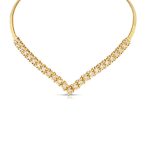 Decorated 18K With CZ Bridal Necklace