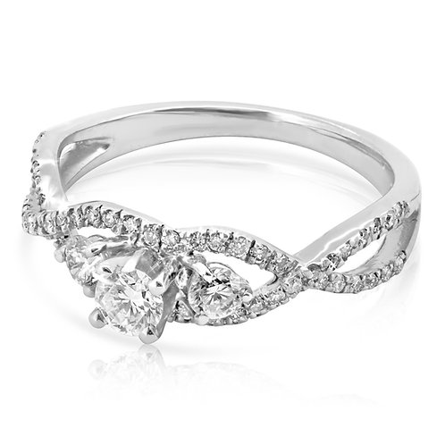 Tangled Engagement Diamond Ring