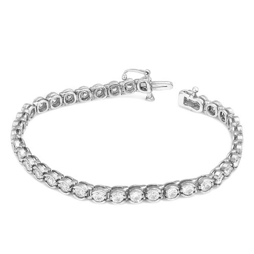 Modern Circles Diamond Tennis Bracelet