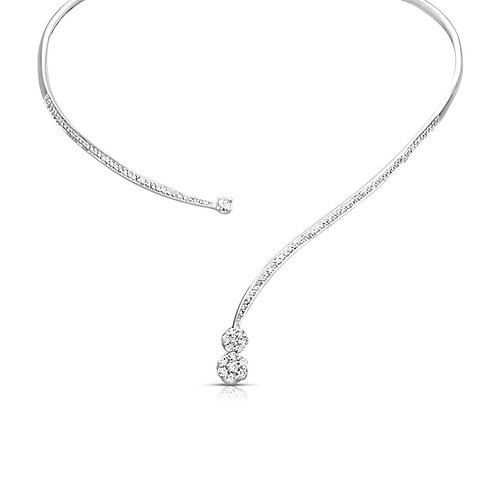 Soft Neat Diamond Bridal Necklace