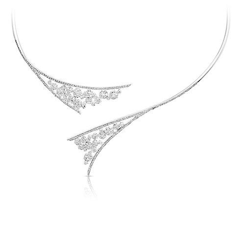 Bridal Diamond Inlaid Necklace