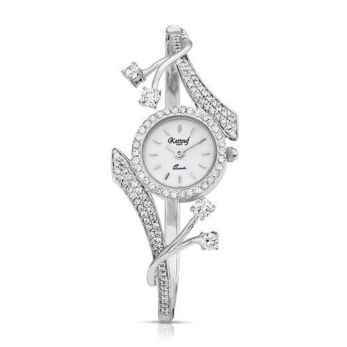 Diamond Drops elegant Kattouf Jewellery Watch Extended