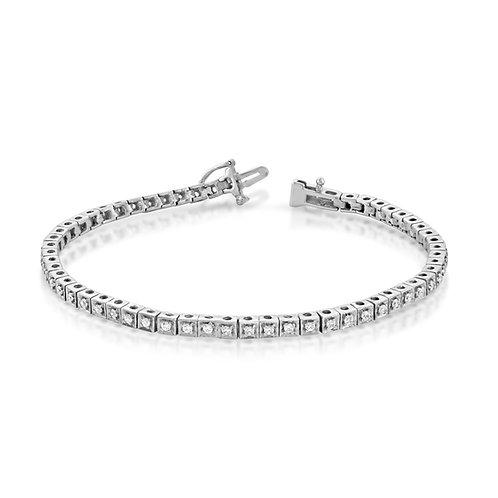 Classy Tennis Diamond Bracelet