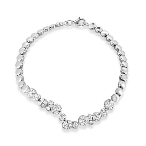 Diamond Loops Bridal Bracelet