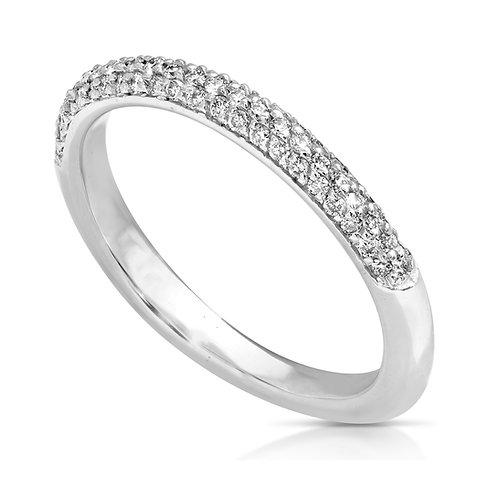Diamond Compact Wedding Ring