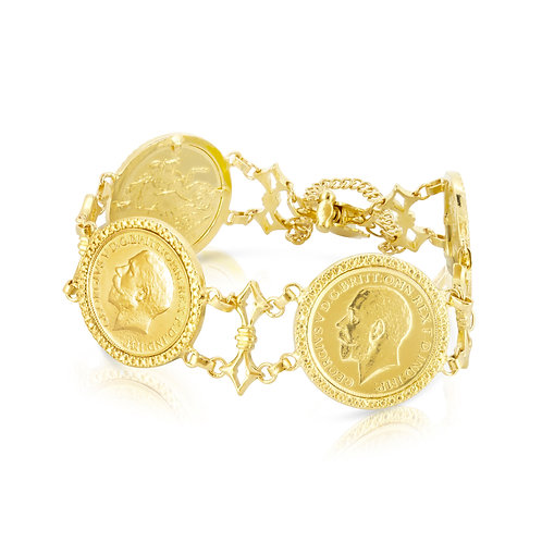 21K Golden Coins Bracelet