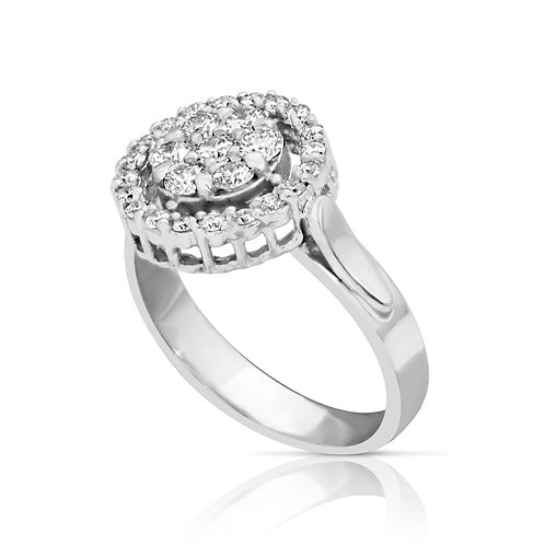 Diamond Love Circle Ring