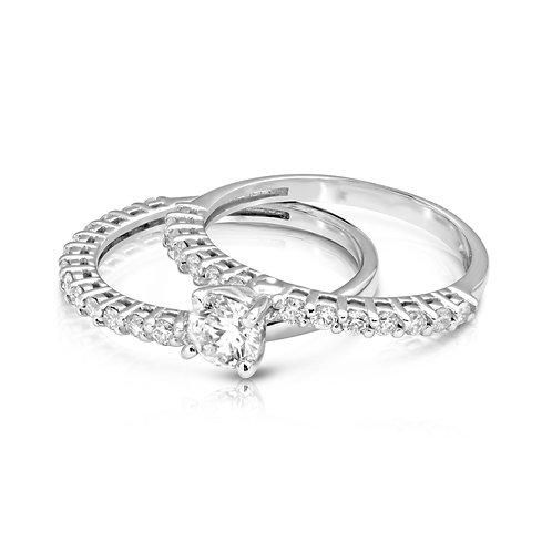 Elegant Thin Diamond Engagement Set