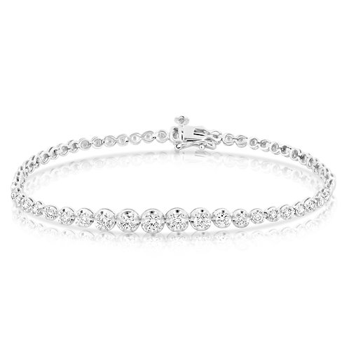 Tennis Bracelet 5 Gradual Diamond Sizes
