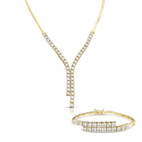 Opposite Equal Prominent Diamond Set