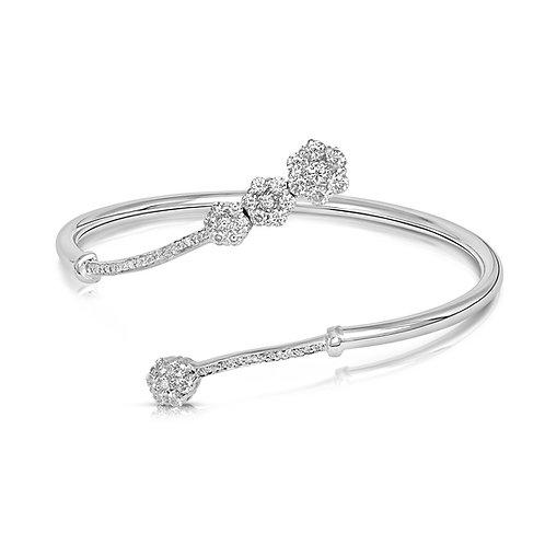 Bridal Diamond Inlaid Degrade Flowers Bracelet