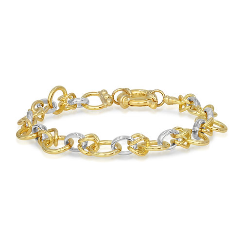White & Yellow Gold Chain Bracelet