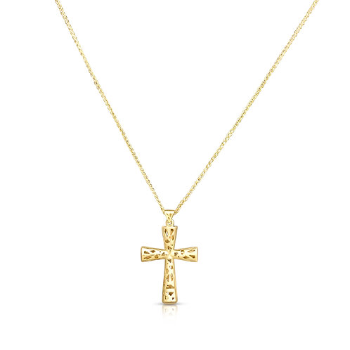 Triangle Shapes Golden Hollow Cross
