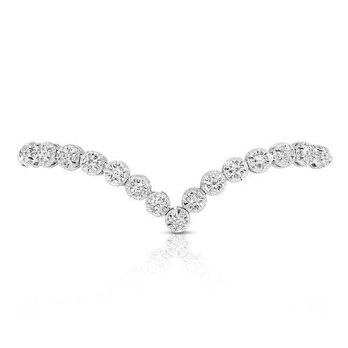 Delicate V Shape Diamond Bracelet