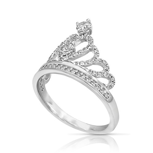 Special Crown Diamond Engagement Ring