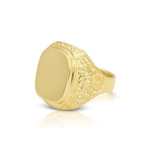 Ornamented Signet Ring With Optional Engraving