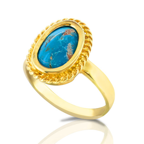 Prominent Oriental Turquoise Ring
