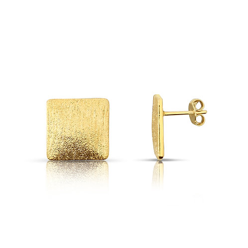 Square Sand Blast Finish Earrings