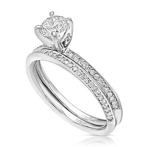 Classy Mobius Diamond Inlaid Couple