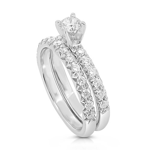 Classic French Cut Diamond Engagement Set