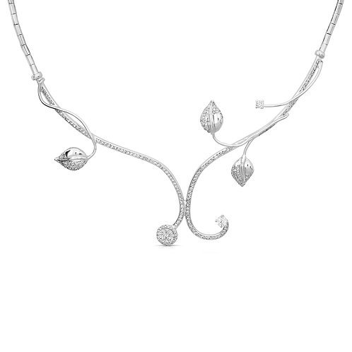 Diamond Leaves Bridal Necklace