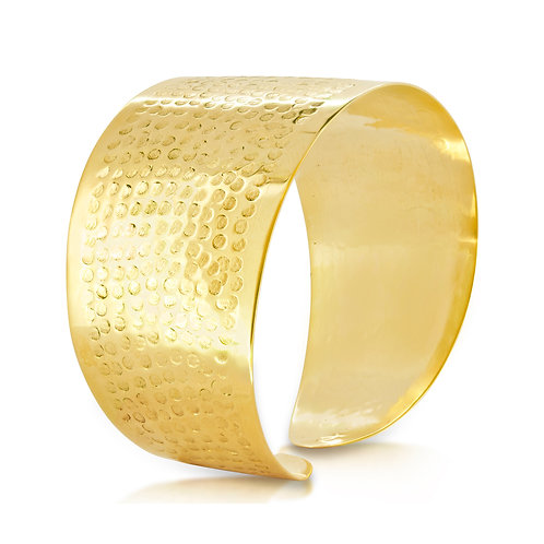 Bold 1 Piece Bracelet Engraved Circles