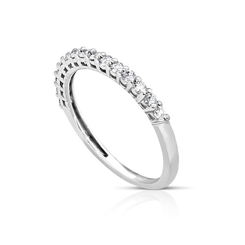 Elegant Thin Diamond Wedding Ring
