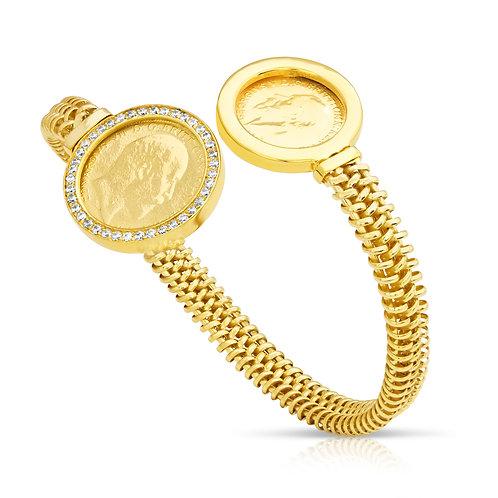 Traditional 0.5 & 0.25 Lera Bracelet With CZ