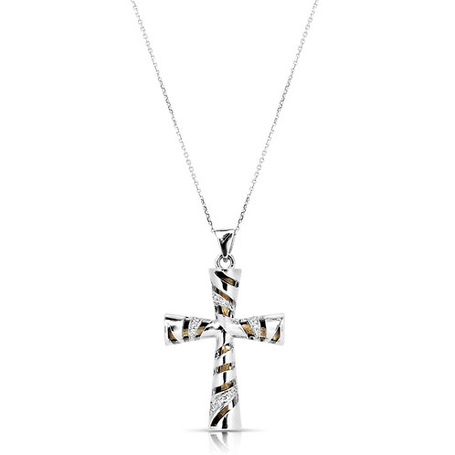 Nazareth Olive Tree Wood Diamond Cross