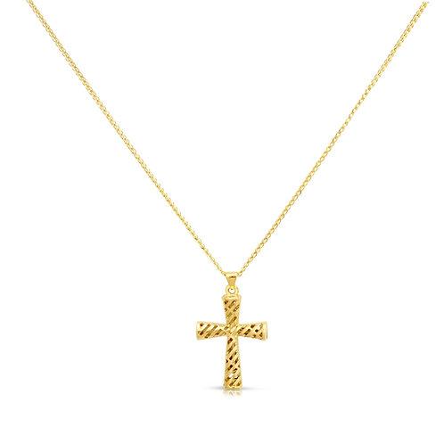 Golden Pattern Hollow Cross