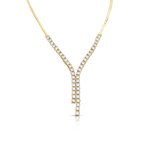 Opposite Equal Prominent Diamond Necklace