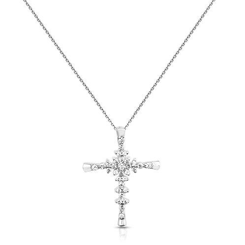 Diamond Bethlehem Inlaid Cross Pendant