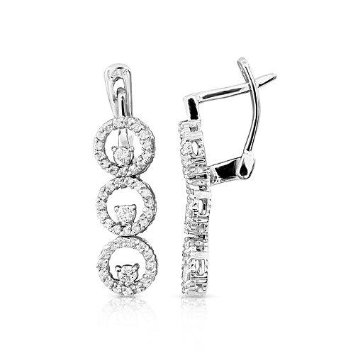 Diamond Bridal Loops Earrings