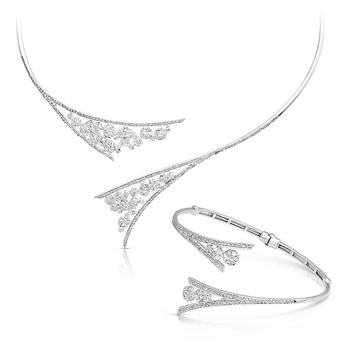 Bridal Diamond Inlaid Set