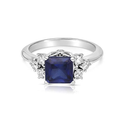 Diamonds & Sapphire Fantasy Proposal Ring
