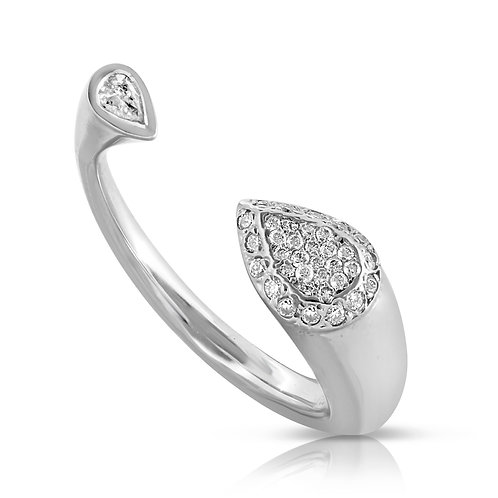 Head & Tail Pear Diamond Ring